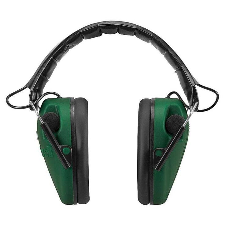 green Caldwell Low Profile E-Max Electronic Ear Muffs 85 decibels 2 microphones #Caldwell