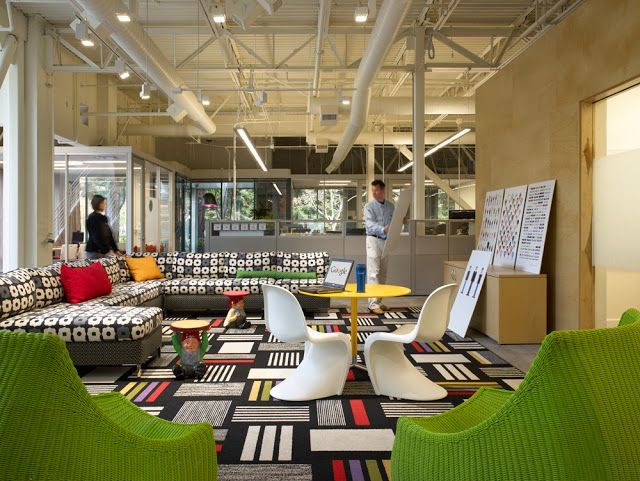 barcode type rug for office - imagine these: office interior