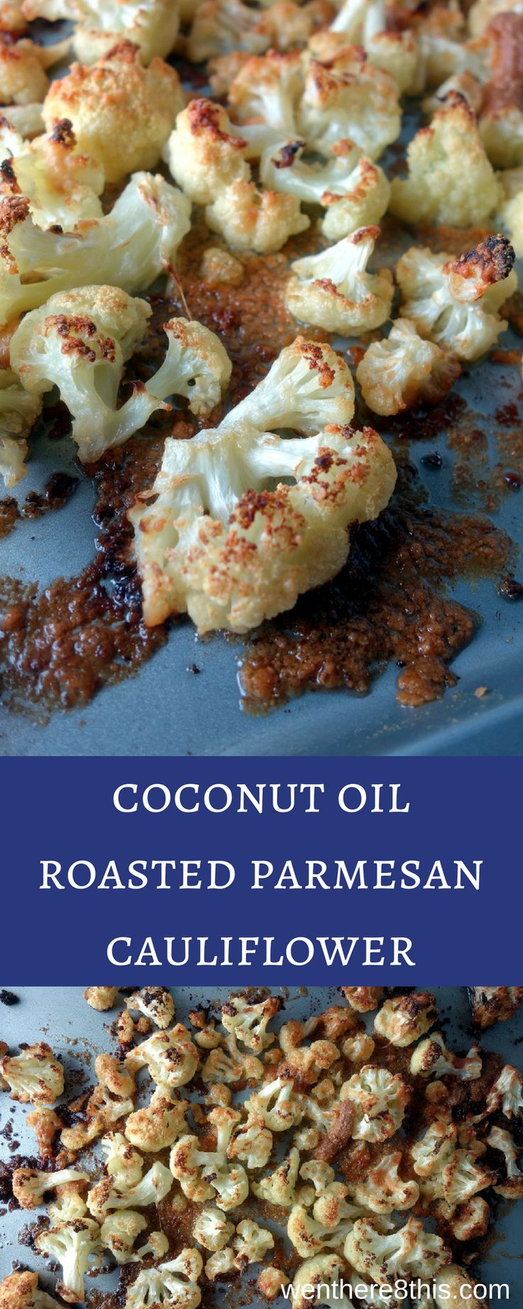 This coconut oil roasted parmesan cauliflower is easy to make and delicious, roasted with coconut and parmesan cheese for perfectly crisp caramelized edges.    parmesan roasted cauliflower   healthy roasted cauliflower   easy roasted cauliflower   coconut oil recipes   keto cauliflower bites   low carb cauliflower bites   coconut oil roasted vegetables   paleo cauliflower via @Went Here 8 This
