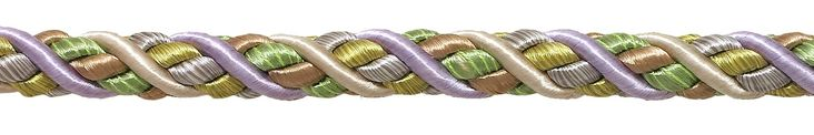 """9 Yard Value Pack of Large Lilac Gold Baroque Collection 7/16"""" Decorative Cord Without Lip Style# 716BNL Color: WINTER LILAC - 8426 (27 Ft / 8 Meters)"""