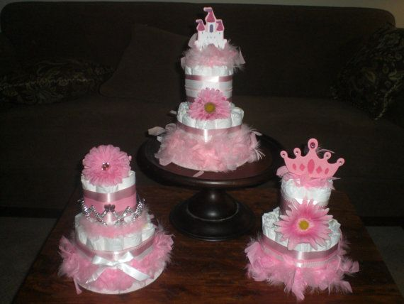 Princess Diaper Cake Baby Shower Centerpiece Baby Diva other colors and sizes too 25