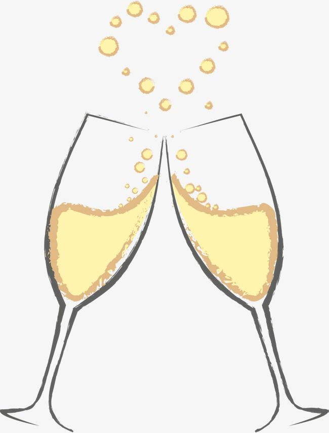 Champagne Wine Glass Flower Receptacle Love The Banquet Congratulate Celebrate A Toast Cheers Love Bubble Of Love S Bottle Drawing Flute Drawing Starbucks Art