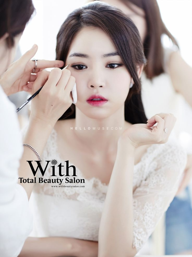 With Beauty salon in Korea, Korean style wedding make-up, Korean wedding styling…