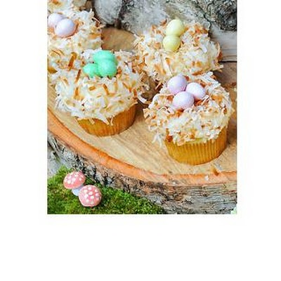 Coconut Nest Cupcakes | Good thing I'm too lazy to make it or I'd be ...