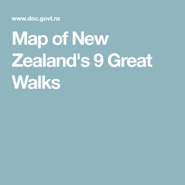 Map of New Zealand's 9 Great Walks