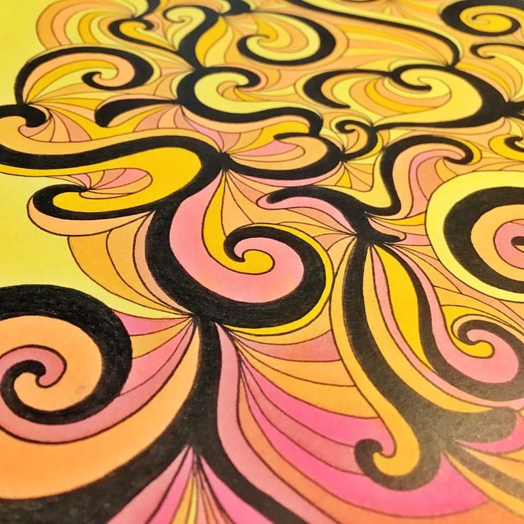 "Mental Images Coloring Books (@paivivesala_art) on Instagram: ""Happy swirls! * Do you like quick coloring too? * Coloring book: Mental Images vol 1 (Amazon)"""