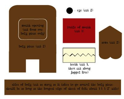 How to make a domo kun plushie. Felt Domo Kun - Step 1