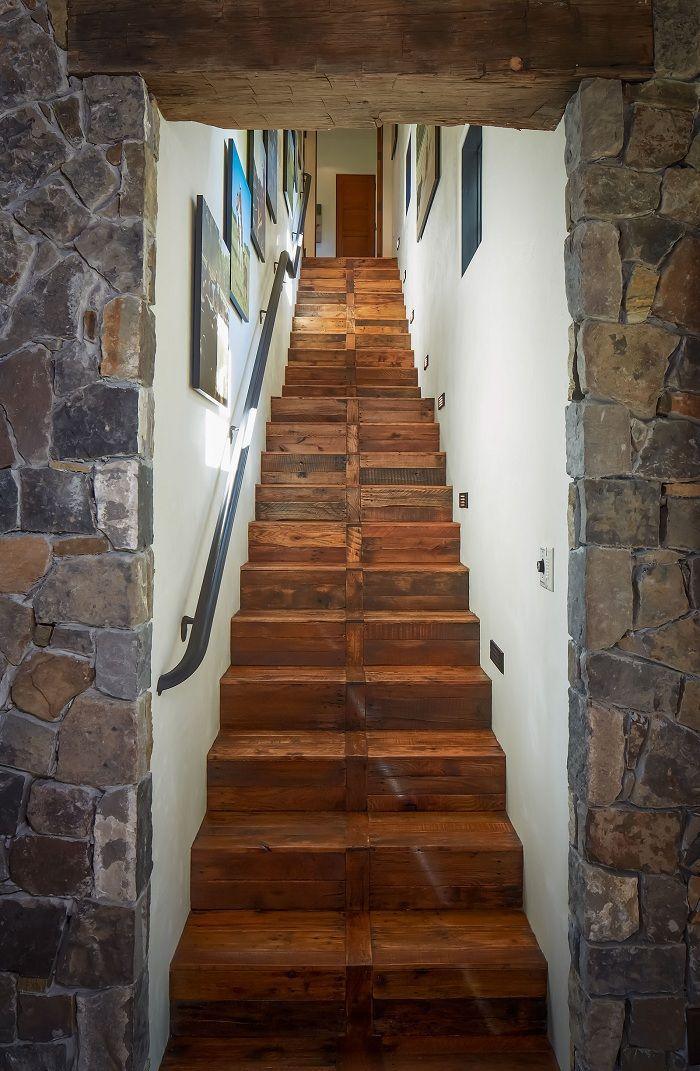 Pallet Wood Flooring Stairs