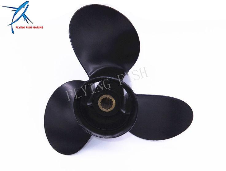 9.25x9 Boat Engine Aluminum Propeller for Tohatsu / Nissan 2-Stroke 9.9hp 12hp 15hp 18hp Outboard Motors 14P 9.25 x 9