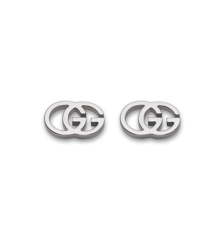 Gucci GG 18ct White Gold Earrings