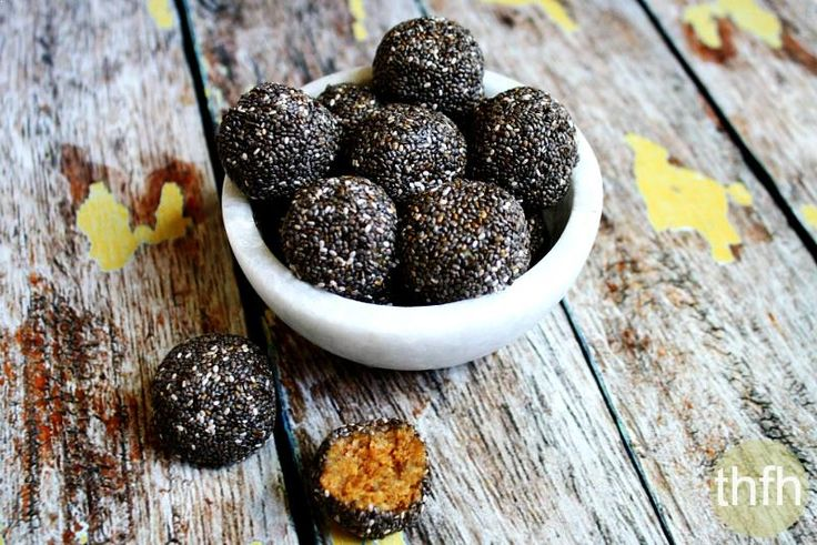 Raw Chia Seed Nut Butter Balls...a clean eating recipe made with 6 ingredients and they're raw, vegan, gluten-free, dairy-free, paleo and have no refined sugar