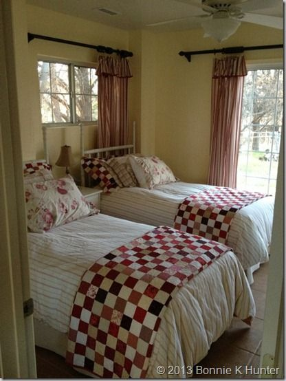 Just love the Red/White checked quilts...