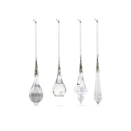 Gisela Graham, Set of 4 Assorted Crystal Drop Decorations, Buy Online at LuxDeco