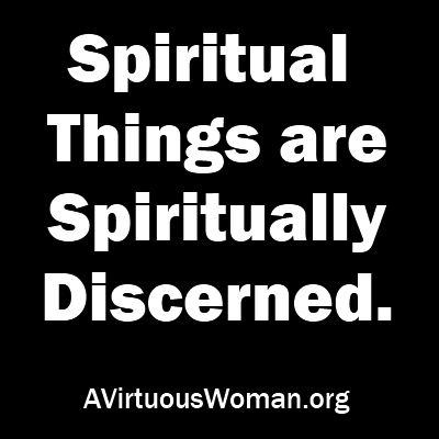 Spiritual things are spiritually discerned. Find out how the Bible interprets itself and how to study the Bible. | A Virtuous Woman