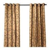 IKEA NÄTVIDE 2 panneaux de rideau rouge-brun (réf.: 00241858)
