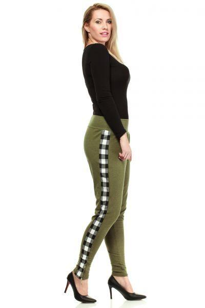 Spodnie dresowe w kolorze khaki size plus