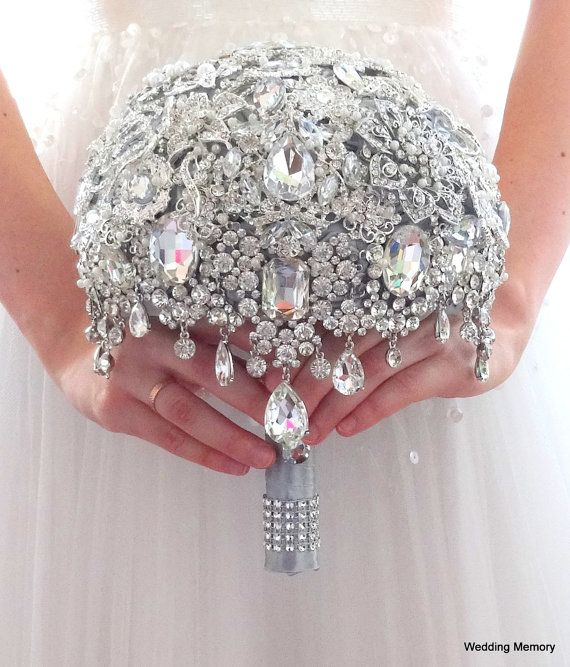 Ready 8 FULL PRICE Cascade glamour brooch by MemoryWedding on Etsy