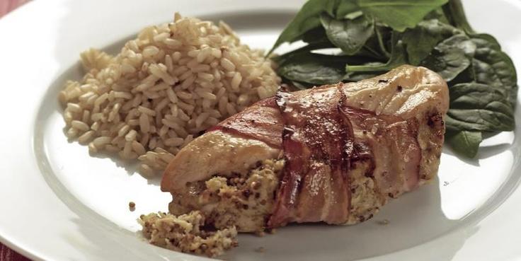 kylling med sennep og bacon