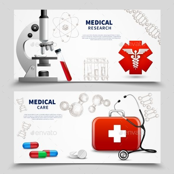 Medical Research Banners Set Template - #Medical #Research #Health #Banner #Set #Template #Medicine #Conceptual #Design. Download here: https://graphicriver.net/item/medical-research-banners-set/19519998?ref=yinkira
