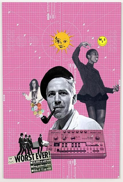 Summer of Love £195.00  By Phil Bedford     A1 (84.1 x 59.4cms)   Digital collage. Inkjet print on heavyweight art paper