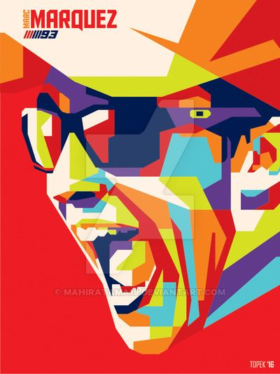 Marc Marquez in WPAP by mahiratama19.deviantart.com on @DeviantArt