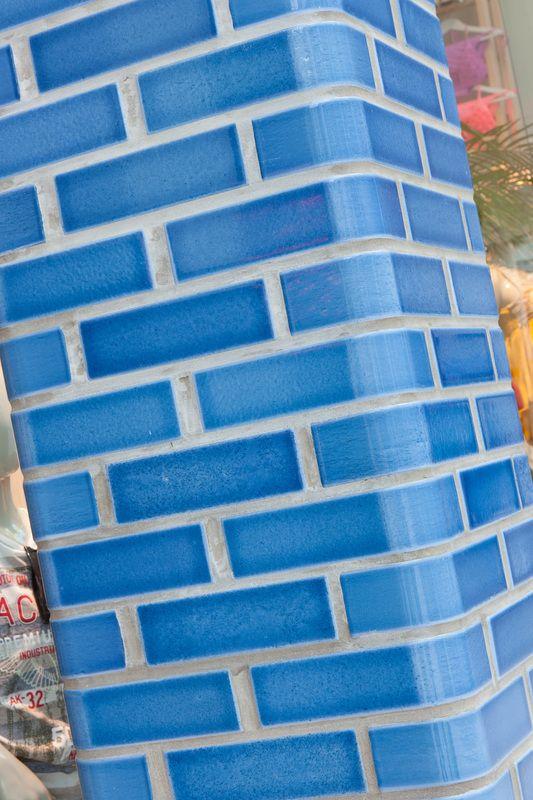 Glazed lava bricks by Pyrolave UK.