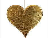 A giant heart piñata! Love this! Perfect for a photo prop!