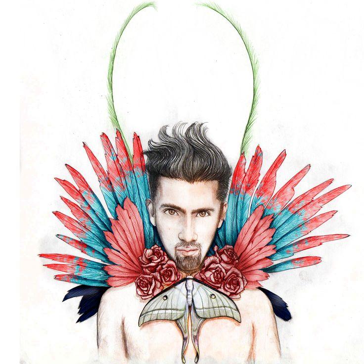 Flowers, feathers & butterflies.