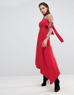 ASOS Midi Dress with Taping Detail