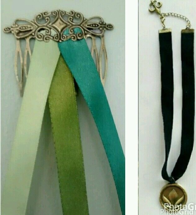 Bundle price: Frozen Anna Coronation hair slide & necklace costume UK seller #Handmade