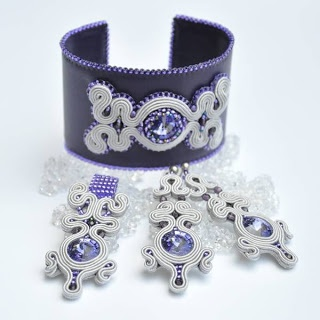 Loving this Soutache set in purple and white.  viaIZZILAND