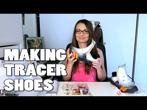 Tracer cosplay shoes - YouTube