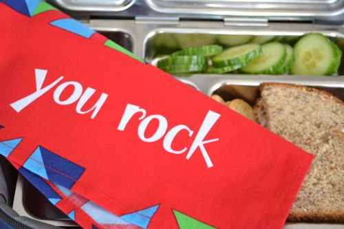 back to school - reusable cloth napkins for kids lunches
