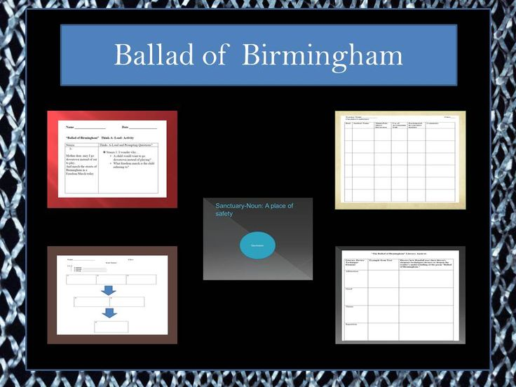 analysis of ballad of birmingham A young girl asks her mother if she can go downtown and participate in one of birmingham's many freedom marches, saying she'd rather march than play outside.