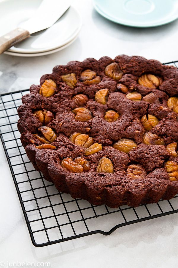 This Italian cake — Torta Morbida di Castagne e Cioccolato — is our new Christmas favorite. The cake is rich but not too rich, sweet but not too sweet. It is delightfully moist and the chestnuts and chocolate go wonderfully well together.