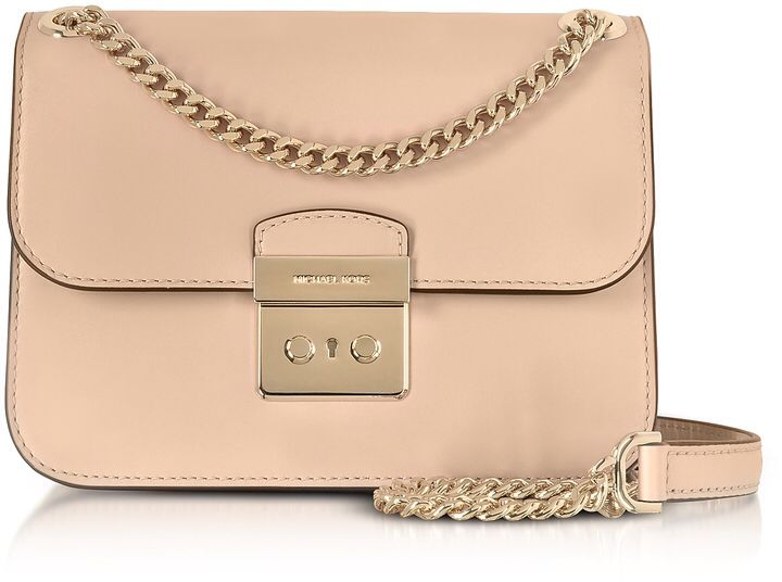 Michael Kors Sloan Editor Medium Oyster Leather Chain Shoulder Bag
