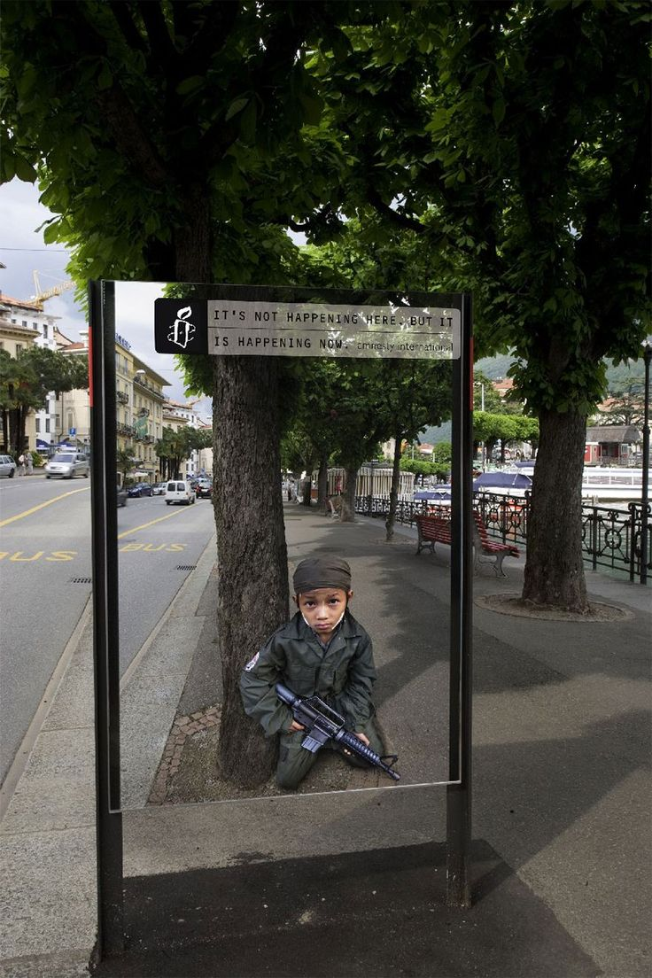 Child Soldiers: It's Not Happening Here, But It's Happening Now --- amnesty-international-campaign-ads-122
