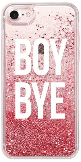 Casetify iPhone 7 Glitter Case - boy bye by Kiki's Bay #Casetify