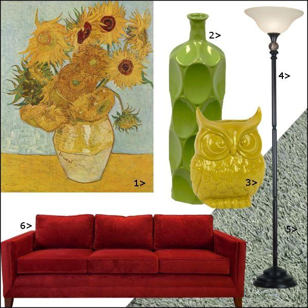 Art Inspired Decor: Van Gogh #homedecor #art #inspiration #redecorate #