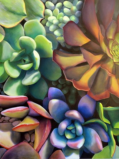 BoldBrush Painting Competition Winner - February 2013 | Succulents by Victoria Gobel