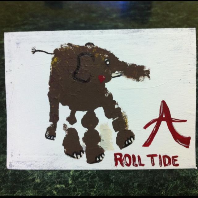 """Hand""made Roll Tide Birthday Card...pretty cool!"