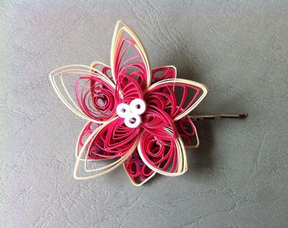 style de la mode de 2019 rechercher l'original à vendre Hair - clip Barrette made of quilling paper, for bridesmaid ...