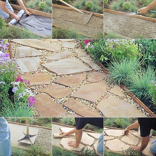 Install a Flagstone Path Like This to Beautify Your Garden - http://www.amazinginteriordesign.com/install-flagstone-path-like-beautify-garden/