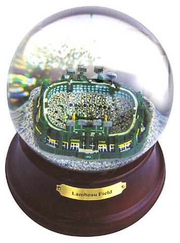 Green Bay Packers Lambeau Field Musical Snow Globe