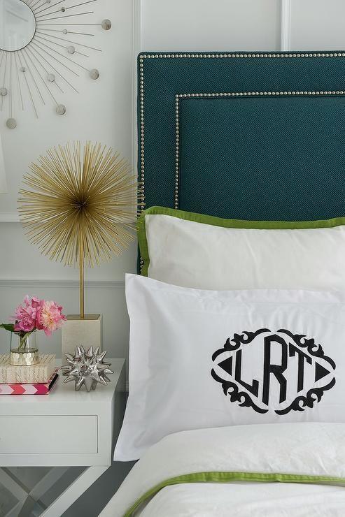 Zhush - bedrooms - zhush.com, zhush, bedrooms, home decor, bedroom decor, bedroom inspiration, girl's room, monogrammed sham, monogrammed pi...