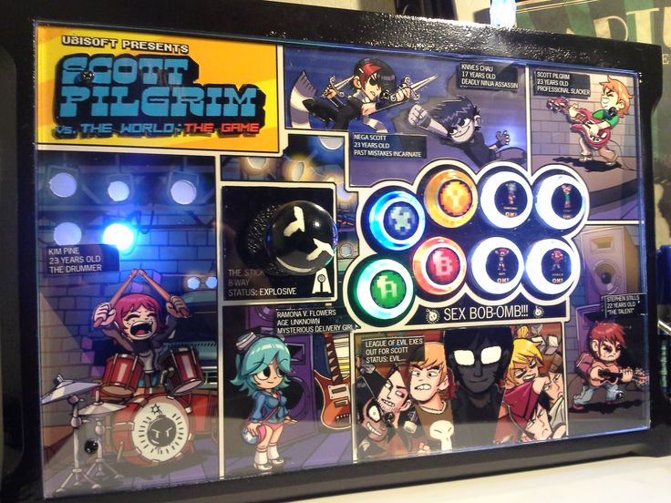 Deluxe Scott Pilgrim Joystick for PC/PS3/Xbox360 from Anomaly Arcade Sticks on Storenvy