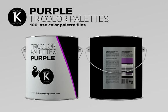 Purple Tricolor Palettes by Keboto on @creativemarket