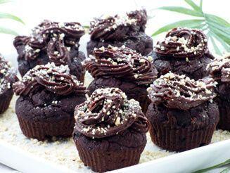 Kakaós, datolyás zabmuffin nagyon egyszerűen recept