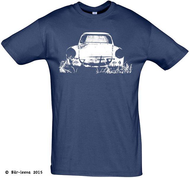 T-Shirt Männer Trabbi (Trabant 500) navy  von Bär-leena auf DaWanda.com