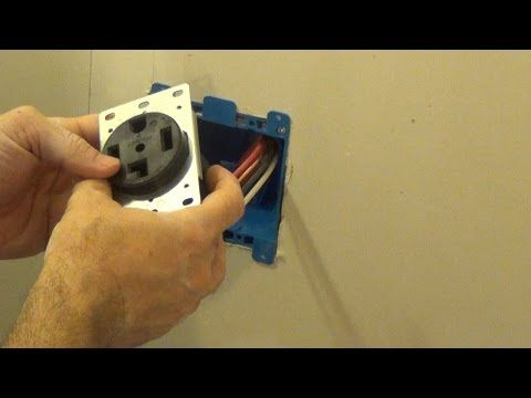 How to Install and Wire a 4-Prong Dryer Plug (Including fishing the wire)